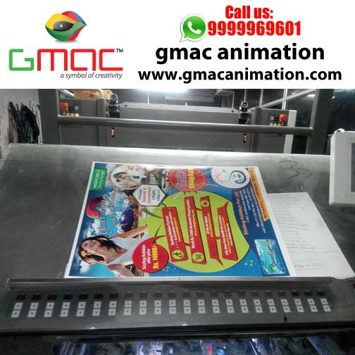Gmac Animation Activities artwork layout designing and offset printing for travel agencies delhi by gmac animation