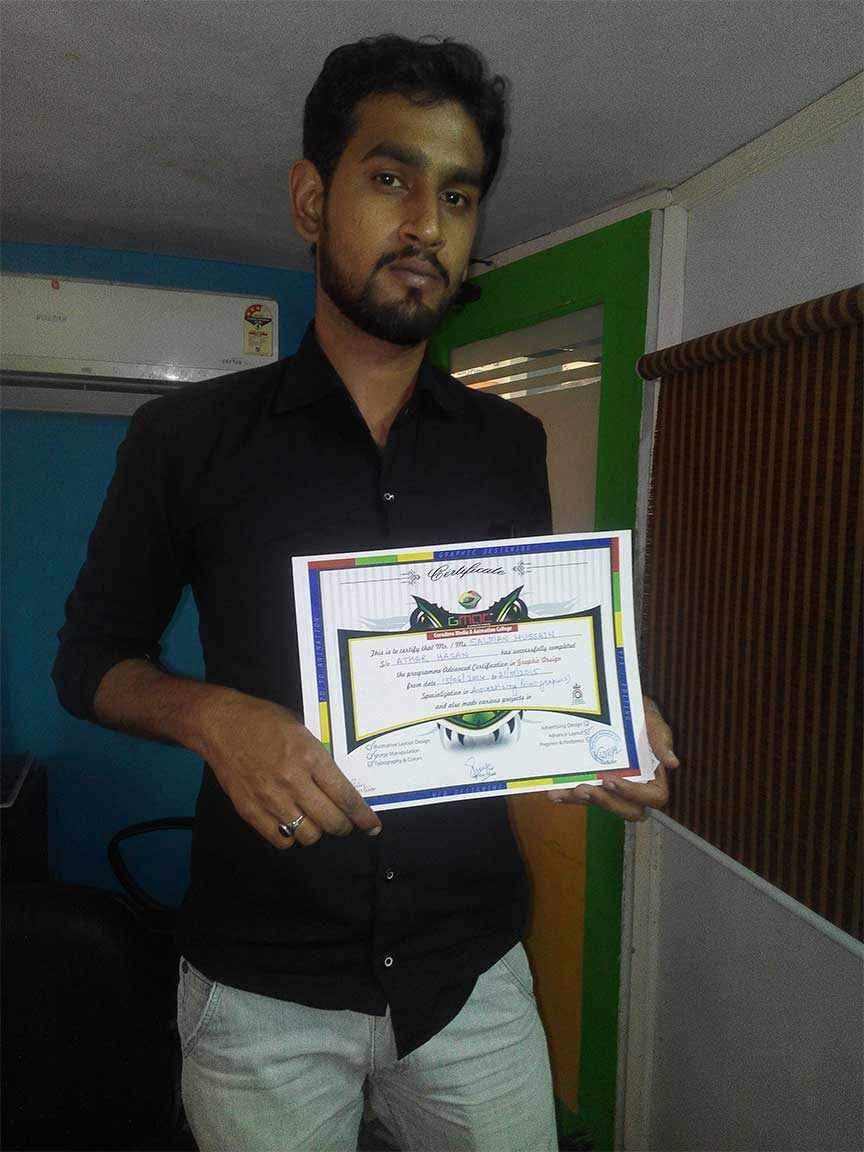 Gmac Animation Activities graphic designing course certificate by GMAC Animation