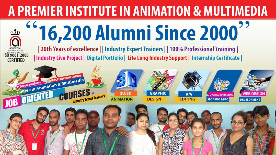 designing institute alumni place in industry by gmac animation after designing courses