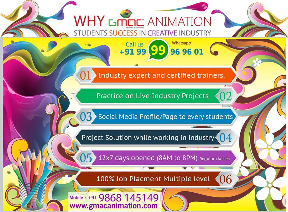 graphic designing and website designing course institute | GMAC Animation