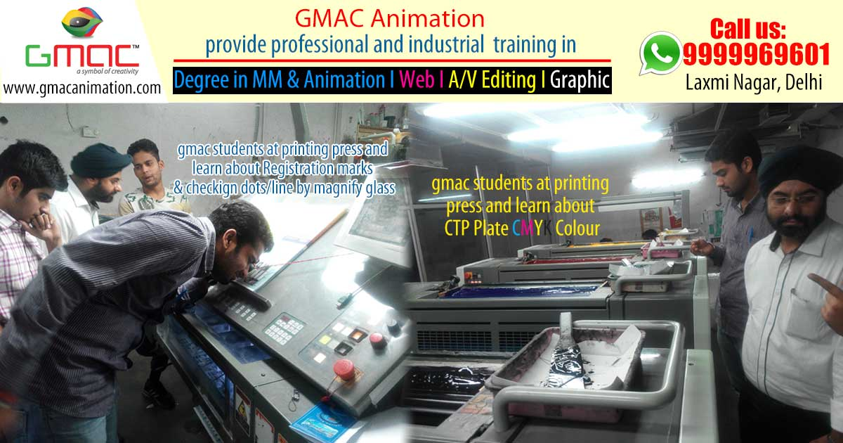 Gmac Animation Activities graphic designing classes at Printing press