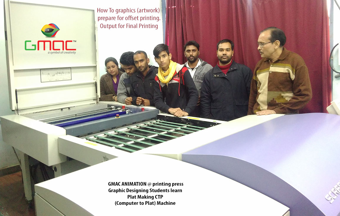 Gmac Animation Activities CTP Computer to Plate making machine live industry visit in printing house