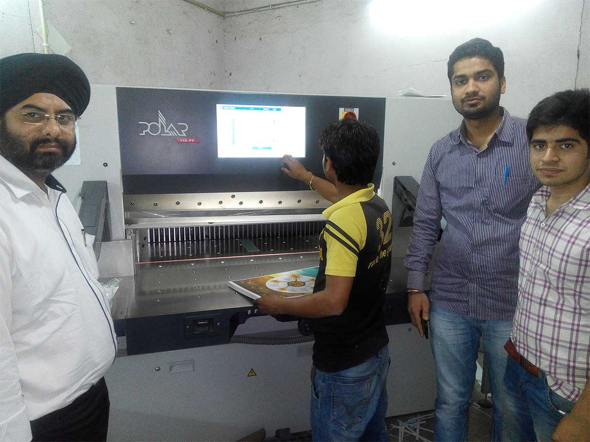 Gmac Animation Activities graphic designing students learn about Paper Cutting machine at printing press