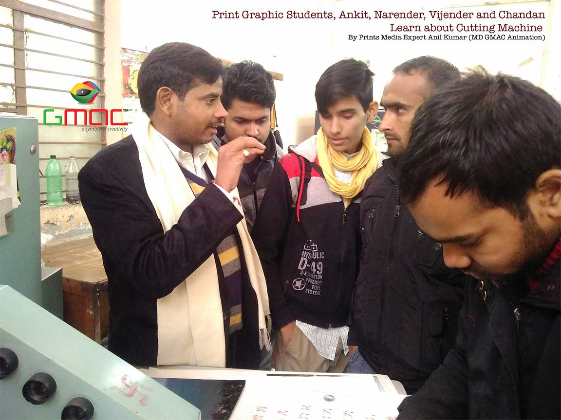Gmac Animation Activities Registration marl checking by gmac students in printing press visit
